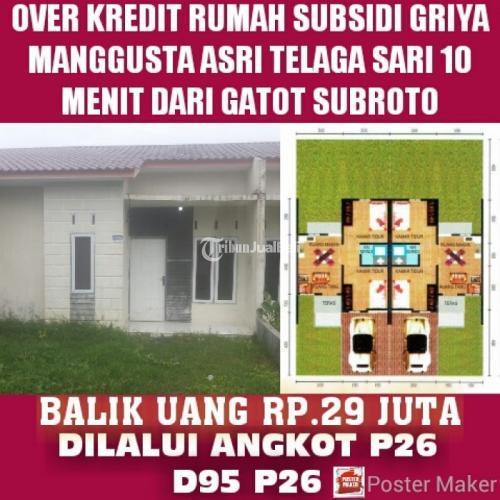 Dijual Rumah Subsidi di daerah telaga sari suka raya 15 menit ke medan sunggal dan 15 menit ke gerbang tol semayang - Medan