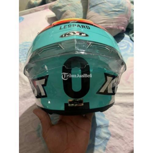 Helm KYT TT Course Leopard Size XL Spoiler 3D Bekas Mulus - Semarang