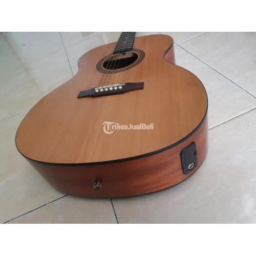 Gitar Akustik Elektrik Second Fungsi Normal Warna Coklat Siap Pakai - Bandung