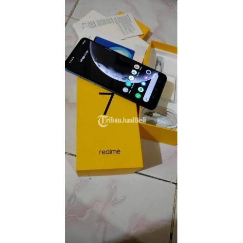 HP Realme 7 NCF Biru Ram 8GB/128GB Beka Fullset Mulus No Minus - Makassar