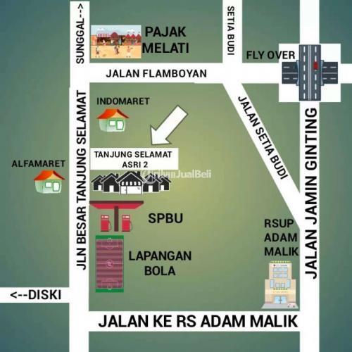 Take over kredit rumah subsidi di daerah tanjung selamat 5 menit ke pajak melati - Medan