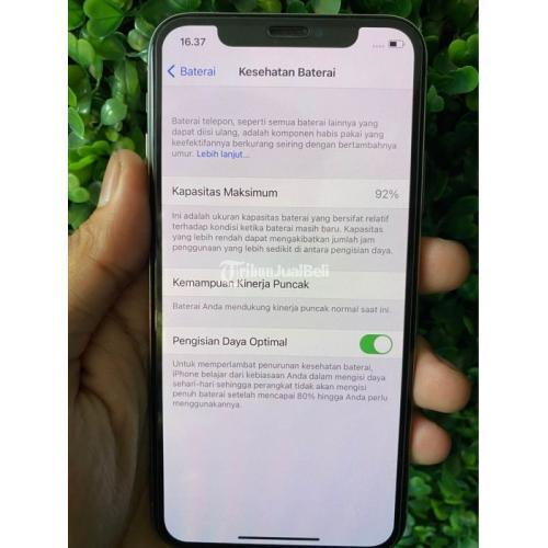 HP Apple iPhone X 64GB Silver Bekas 3uTools 100 Fullset No Minus - Jakarta