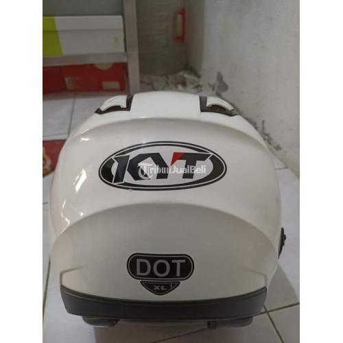 Helm KYT Kyoto White Size XL (FULLSET) Bekas Bagus Harga Nego - Tangerang
