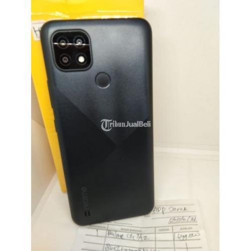 HP Realme C21 Ram 3GB/32GB Blacak Bekas Fullset Mulus No Minus - Surabaya