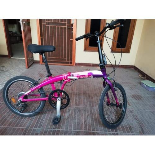 Sepeda Lipat 20 inch Ecosmo 7 Speed Bekas Orisinil Normal Harga Nego - Bekasi
