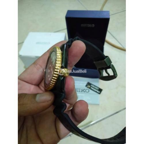 Jam Tangan Seiko Turtle Black Gold Abalone Second Fullset Normal - Solo