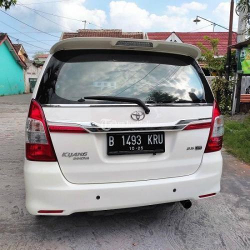 Mobil Toyota Innova 2.5G Diesel Matic 2015 Bekas Tangan 1 Terawat - Yogyakarta