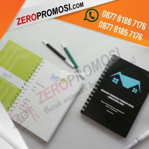 Souvenir Memo Buku Agenda Hard Cover Custom Ukuran A5 Murah - Tangerang