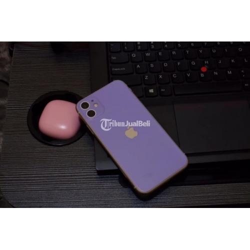 HP iPhone 11 64GB Bekas Pemakaian Pribadi Fungsi Normal Bonus Case - Semarang