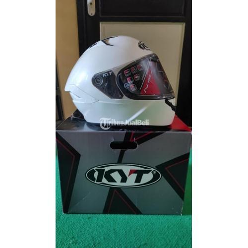Helm KYT NFR Solid White Size L Bekas Like New Mulus Fullset - Surabaya