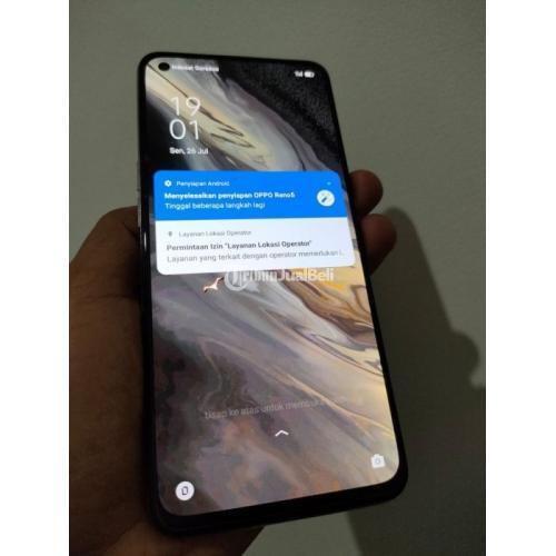 HP Oppo Reno 5 8/128GB Bekas Fullset Mulus Normal - Jakarta