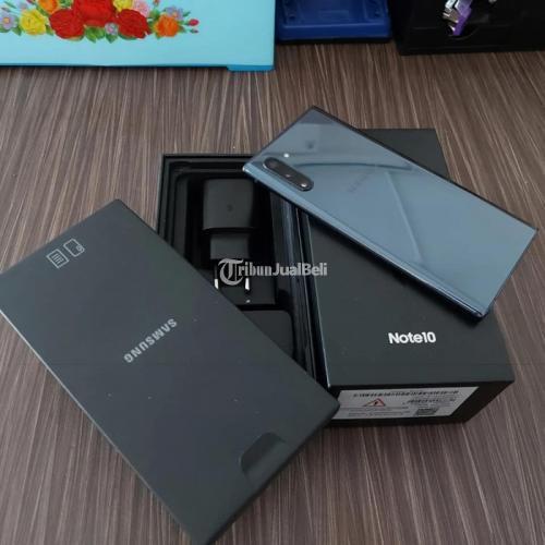 HP Samsung Note 10 8/256Gb Black Bekas Resmi SEIN Ori Normal Siap Pakai - Jakarta
