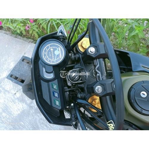 Motor Trail Kawasaki Dtracker SE 2018 Hijau Army Bekas KM Rendah Harga Nego - Magelang