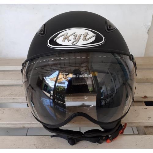 Helm KYT Elsico Hitam Doff Ukuran M Bekas Bagus Harga Nego - Surabaya