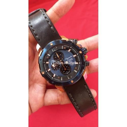 Jam Tangan Alexandre Christie AC6410 M Blue Rose Gold Bekas Like New - Jakarta