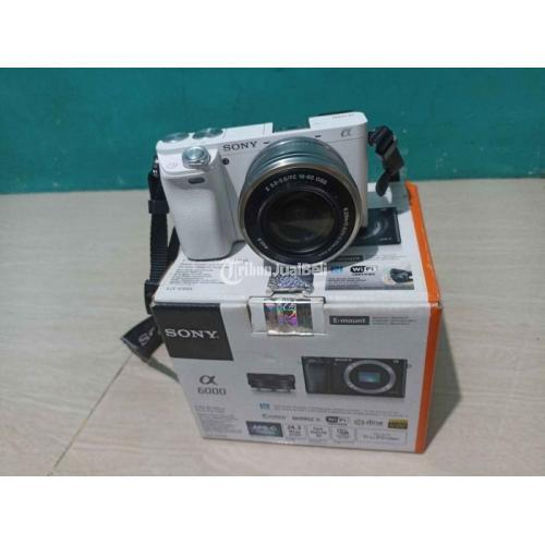 Kamera Mirrorless Sony A6000 Lensa 16-50 Bekas Normal Lengkap - Jakarta