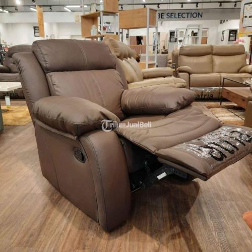 Sofa Recliner Half Leather Kualitas Premium Nyaman Baru - Surabaya