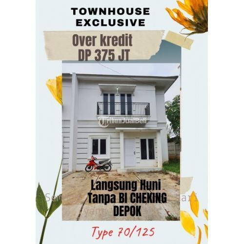 Dijual Townhouse Exlusive Overkredit Siap Huni Tanpa BI Checking - Depok