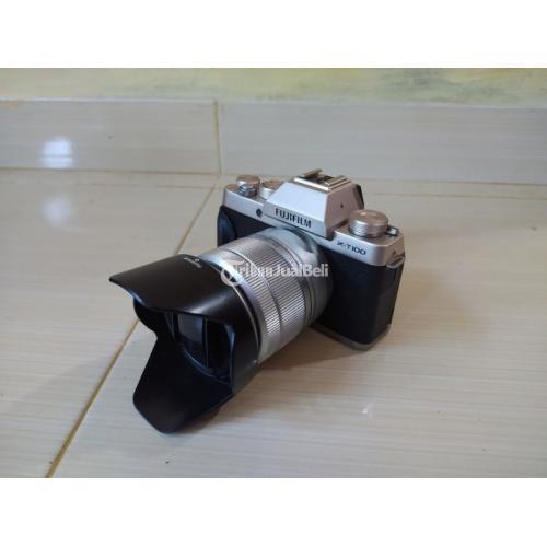 Kamera Mirrorless Fujifilm XT100 Lensa Kit 16-50mm Bekas Normal Lengkap Box - Jogja