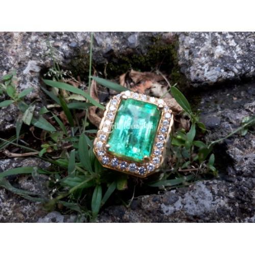 Cincin Batu Zamrud Columbia Ikatan Emas Berlian Kwalitas Super Bersertifikat - Jakarta