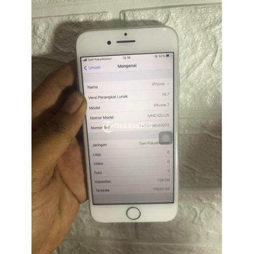 HP iPhone 7 128GB Bekas Fullset Fungsi Normal Baterai 99% Nego - Yogyakarta