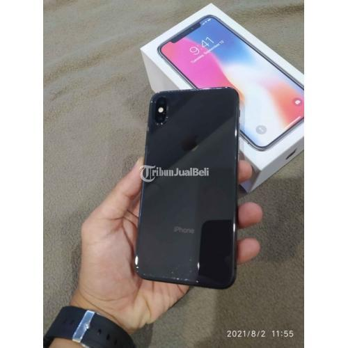 HP iPhone X 64GB Black Bekas Fullset Komdisi Normal Mulus No Minus - Semarang