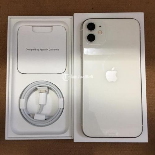 HP iPhone 11 64GB White iBox Fullset Original Bekas Mulus Garansi - Malang