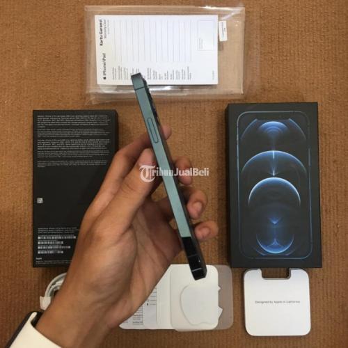 HP iPhone 12 Pro 128GB Pasific Blue iBox Bekas Fullset Original - Malang