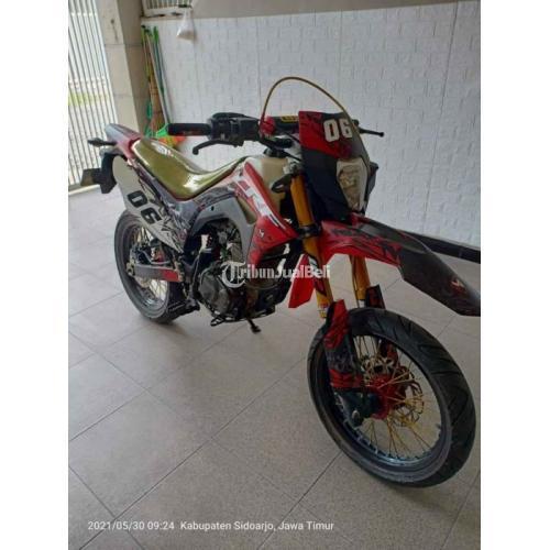 Motor Honda CRF 2013 Mesih Upgrade 200cc Pajak Hidup Surat Lengkap - Surabaya