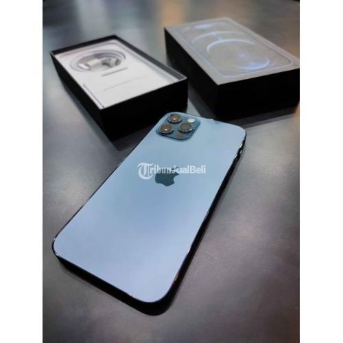 HP iPhone 12 Pro 256GB Pasific Blue Fullset Bekas Mulus No Minus - Semarang