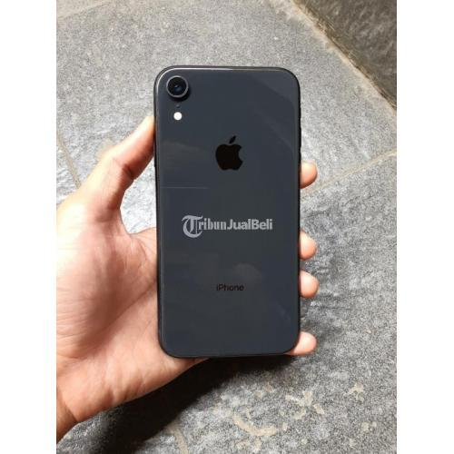 HP iPhone XR 128GB Black iCoud Bebas Reset Fullset Bekas Normal - Bandung