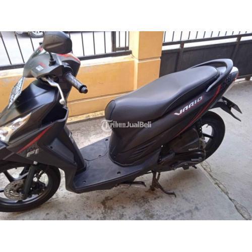 Motor Honda Vario 110 Fi 2016 Hitam Dop Bekas Tangan 1 Harga Nego - Sukoharjo
