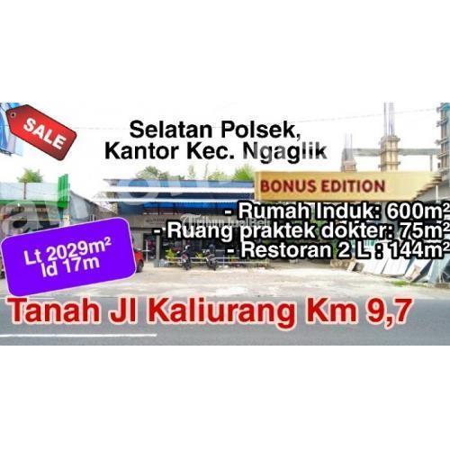 Dijual Tanah Strategis di Jl KALIURANG Km9,7 SELATAN kantor POLSEK-KECAMATAN Ngaglik - Sleman