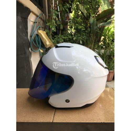 Helm KYT Kyoto Plus Visor Venom Iridium Blue Fullset Bekas Like New - Semarang