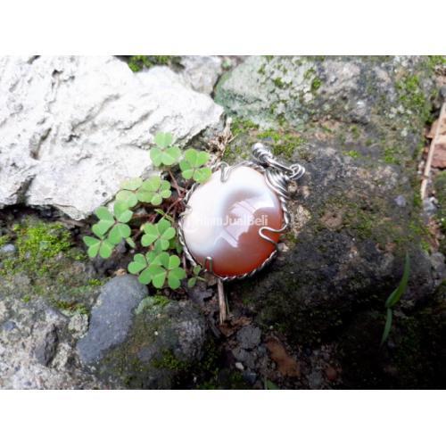Liontin Batu Akik Motif Patkwa Indah AK003 Antik Langka Kolektor Item