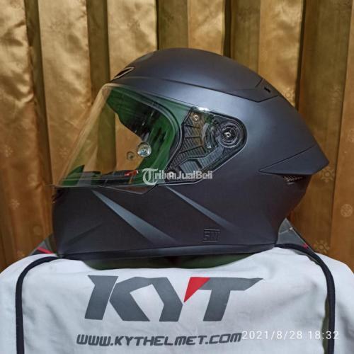 Helm KYT TT COURSE Antracite Doff Size M Bekas Mulus Like New - Jogja