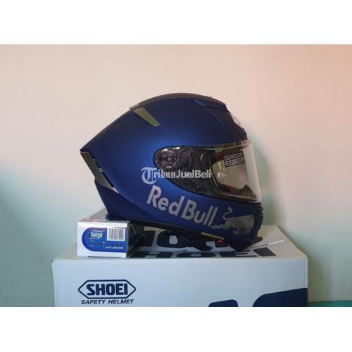 Helm Shoei X14 Blue 2021 Size L Bekas Lengkap Mulus Bagus - Probolinggo