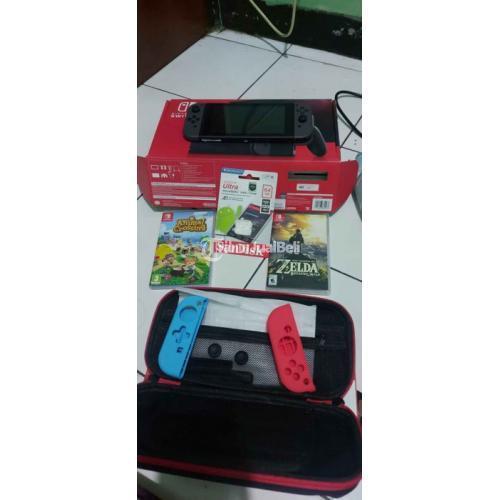 Konsol Game Nintendo Switch V2 OFW Bekas Like New Normal Harga Nego - Jakarta