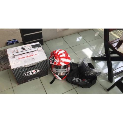 Helm KYT RC7 Size M Bekas Mulus Spoiler Visor Clear Bagus - Jakarta