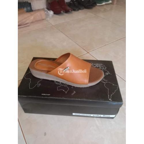 Sepatu Sendal Kulit Pria Wanita 100 Persen Kulit Sapi Asli - Palembang