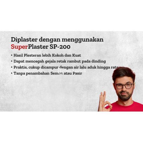Mortar Plester SuperPlaster Sp-200 Bisa Pesan Via Telp - Bogor