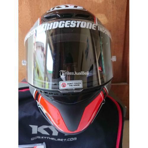 Helm Fullface KYT TTC Red Flow Size M Bekas Like New Fullset - Surabaya