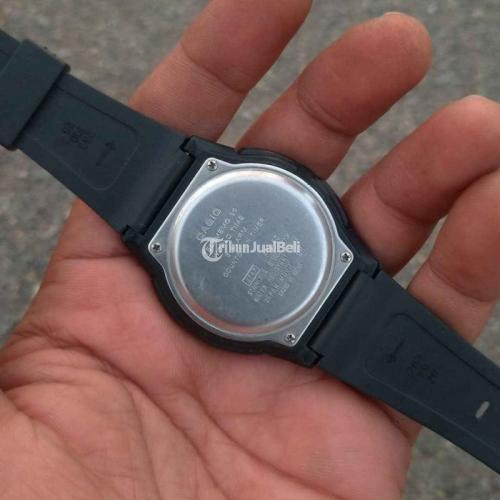 Jam Tangan Casio Dual Time Bekas Original Kaca Anti Gores Nego - Solo
