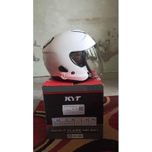 Helm KYT Kyoto Putih/White Size L Bekas Like New Mulus - Jogja