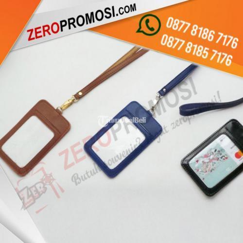Souvenir Tali + Casing Id Card Kapasitas 1 Kartu Cetak Logo Termurah - Tangeran