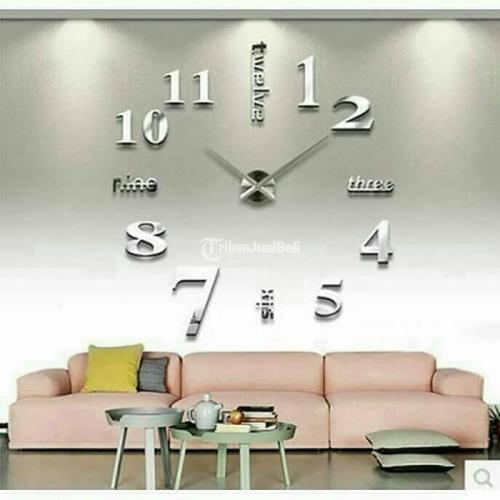 Jam Dinding Raksasa 3D Ukuran 1.3 Meter Cocok untuk Ruang Tamu - Semarang