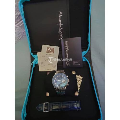 Jam Tangan Alexandre Christie 6492MC Men Blue Bekas Fungsi Normal - Gresik
