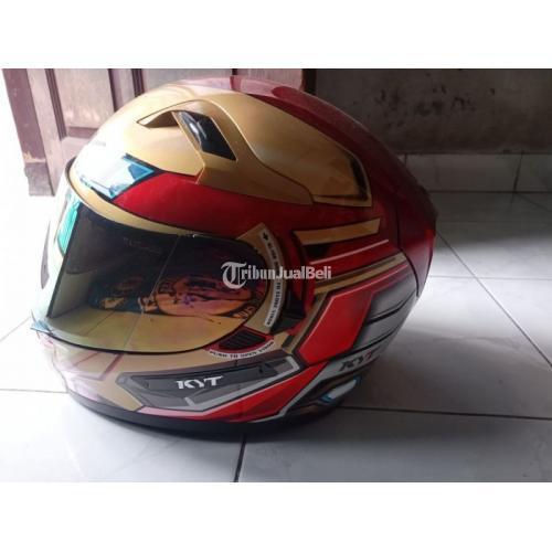 Helm KYT k2r Ironman Visor 2 Lengkap Dus Harga Nego - Jakarta Timur