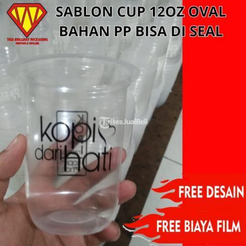Sablon Gelap Plastik 12oz 14oz 15oz 16Oz 18oz 22oz - Jakarta Barat