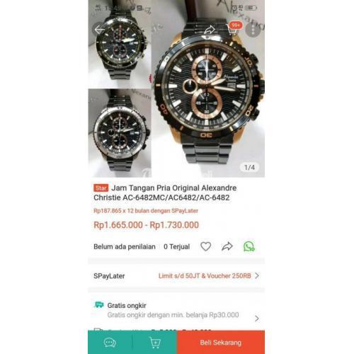 Jam Tangan Alexandre Christie 6482 Rose Gold Second Fullset - Cirebon